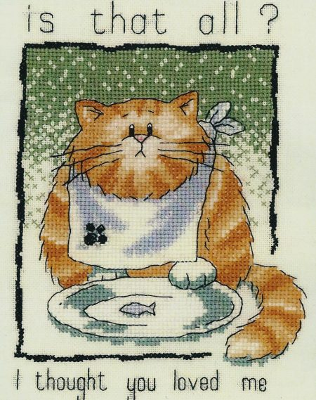 Heritage Crafts Cross Stitch Kit - Cats Rule, Cat, Is that all?