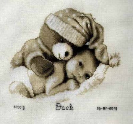 Vervaco Cross Stitch Kit - Baby & Teddy