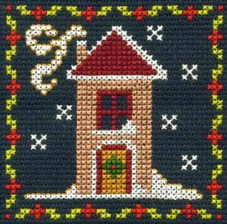 DMC Mini Cross Stitch Kit - Festive Christmas - Snowy House