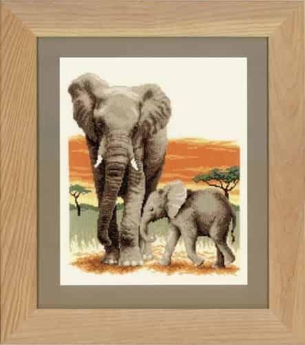 Vervaco Cross Stitch Kit - Elephants Journey