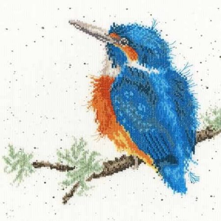 Bothy Threads Cross Stitch Kit - King of the River, Kingfisher XHD23