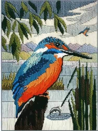 Derwentwater Designs Long Stitch Kit - Kingfisher, Bird
