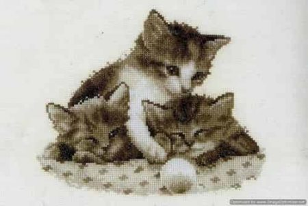 Vervaco Cross Stitch Kit - Three Little Kittens