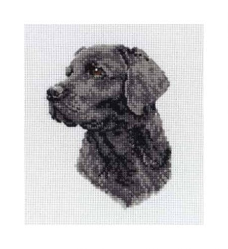Anchor Cross Stitch Kit - Black Labrador PCE218