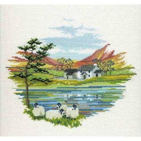 Derwentwater Designs Cross Stitch Kit - Lakeside Farm