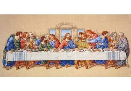 Janlynn Cross Stitch Kit - Da Vinci Painting - The Last Supper