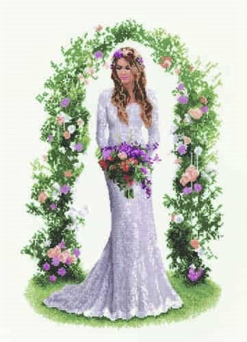 Heritage Crafts Cross Stitch Kit - John Clayton Elegance Laura, Bride