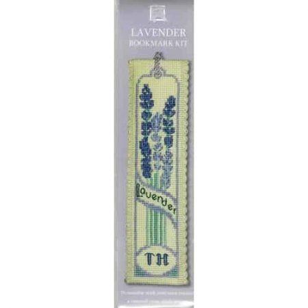 Textile Heritage Cross Stitch Kit - Bookmark - Lavender - Made in Scotland