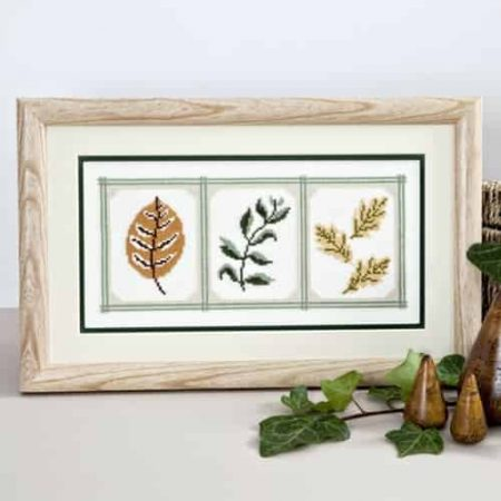 Twilleys of Stamford Cross Stitch Kit - Cameo Leaves