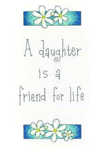 Heritage Crafts Cross Stitch Kit - A Friend For Life, Daughter