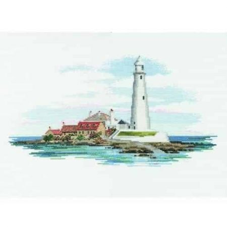 Derwentwater Designs Cross Stitch Kit - Morning Light, Lighthouse