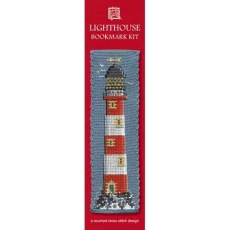 Textile Heritage Cross Stitch Kit - Bookmark - Lighthouse - Made in Scotland
