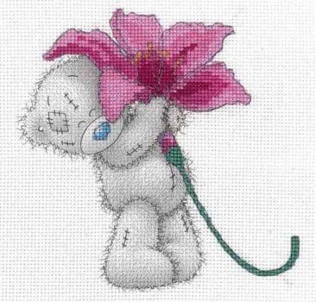 DMC Cross Stitch Kit - Me To You - Tatty Teddy - Pink Lily BL1142/72