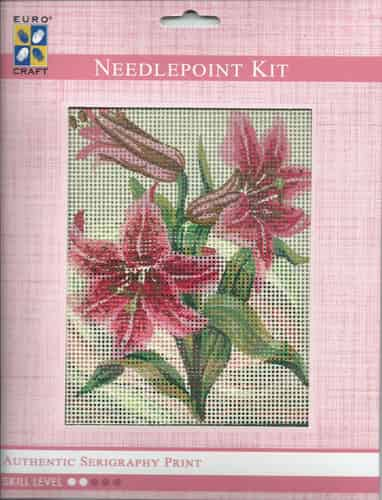 Grafitec Needlepoint Tapestry Kit - Pink Lilies