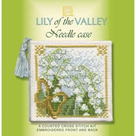 Textile Heritage Cross Stitch Kit - Lily of the Valley Needlecase - Made in Scotland