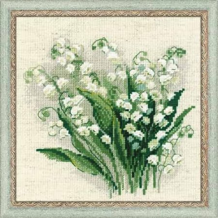 Riolis Cross Stitch Kit - Lily of the Valley, Flower 1497