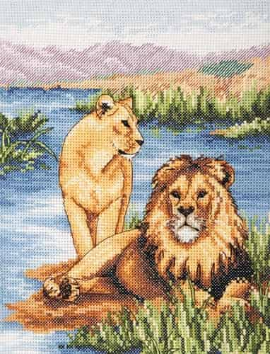 Anchor Cross Stitch Kit - Lions PCE964