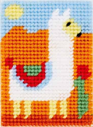 DMC Printed Canvas Tapestry Kit - Llama - Suitable for Beginners