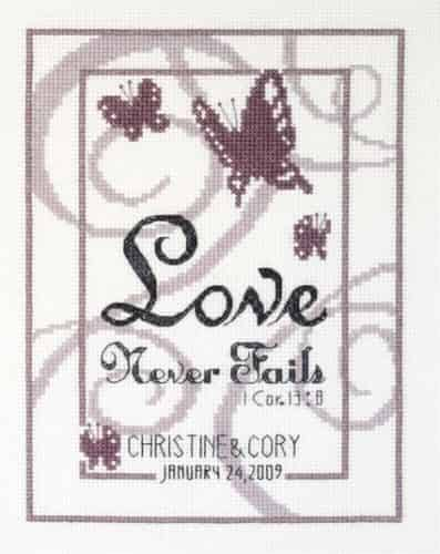 Janlynn Cross Stitch Kit - Love Never Fails