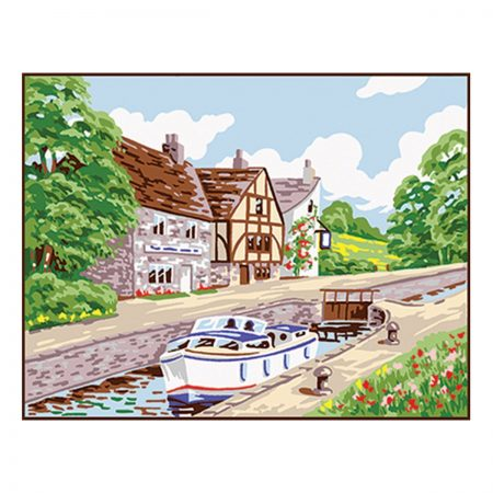 Anchor Needlepoint Tapestry Kit - Country Lock, Canal KT102