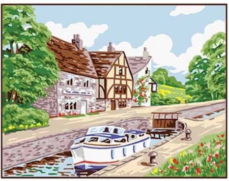 Anchor Tapestry Kit - Country Lock, Canal KT102