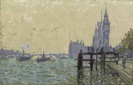 DMC Cross Stitch Kit National Gallery Monet Thames Below Westminster BL1113/71