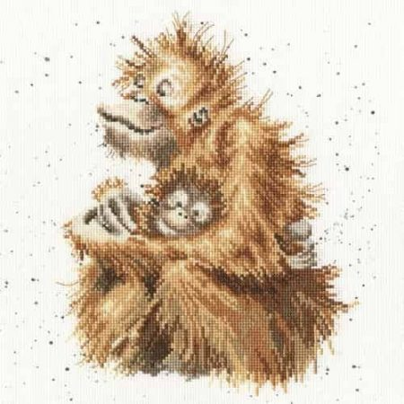 Bothy Threads Cross Stitch Kit - Love is, Orangutan & Baby XHD29