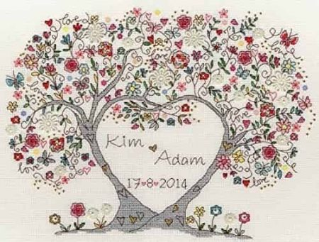 Bothy Threads Cross Stitch Kit - Love Blossoms XKA4
