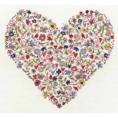 Bothy Threads Cross Stitch Kit - Love Heart XKA1