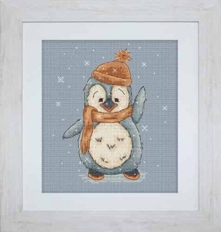 Luca S Cross Stitch Kit - Lulu, Penguin B1044