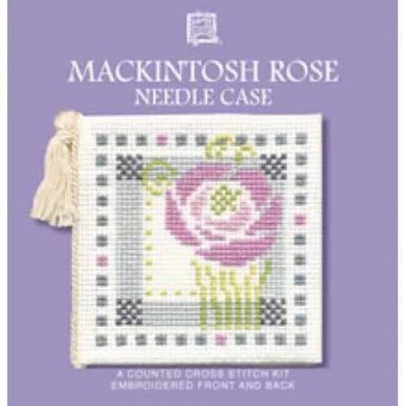 Textile Heritage Cross Stitch Kit - Mackintosh Rose Needlecase - Made in Scotland