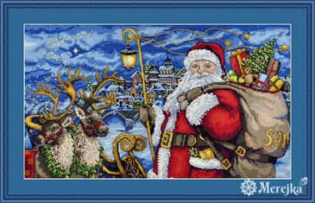 Merejka Cross Stitch Kit - Magical Journey - Santa, Christmas - DMC threads2