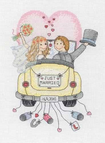 Anchor Cross Stitch Kit - Just Married ACS15