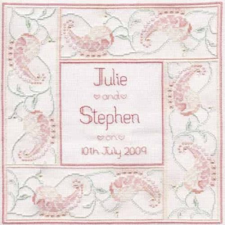 Derwentwater Designs Cross Stitch Kit - Marriage Sampler, Wedding