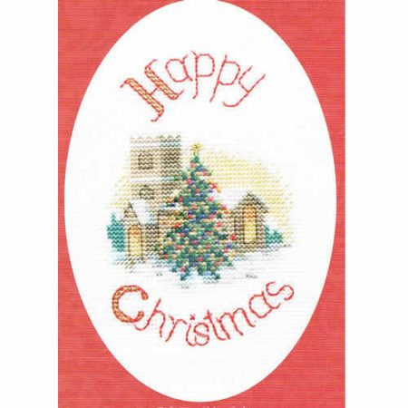 Derwentwater Designs Cross Stitch Kit - Christmas Card, Midnight Mass