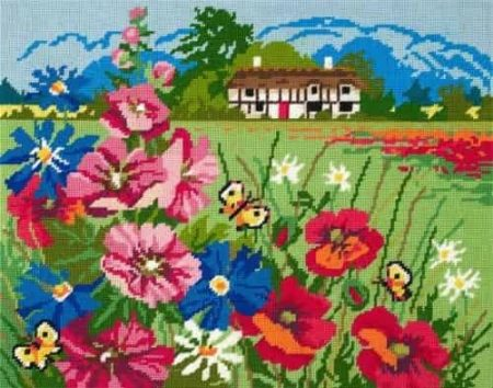 DMC Preprinted Canvas Tapestry - Summer Meadow C20N93