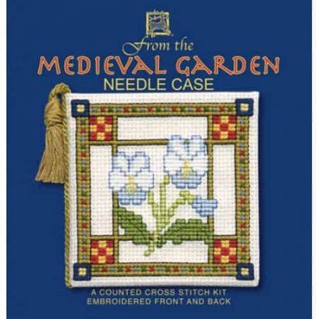 Textile Heritage Cross Stitch Kit - Medieval Garden Needlecase - Made in Scotland