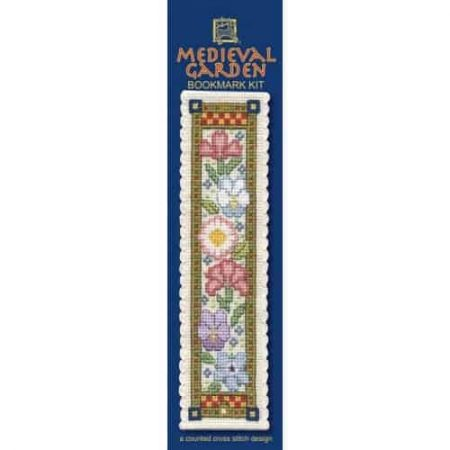 Textile Heritage Cross Stitch Kit - Bookmark - Medieval Garden - Made in Scotland