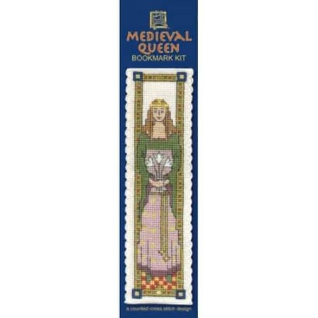 Textile Heritage Cross Stitch Kit - Bookmark - Medieval Queen - Made in Scotland