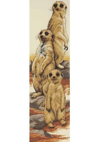 Anchor Cross Stitch Kit - Meerkats PCE772