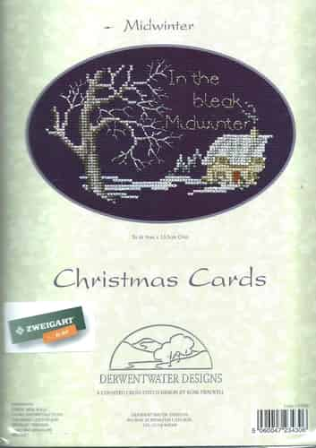 Derwentwater Designs Cross Stitch Kit - Christmas Card, Midwinter