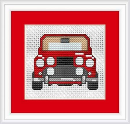 Luca S Cross Stitch Kit -  Red Mini Car