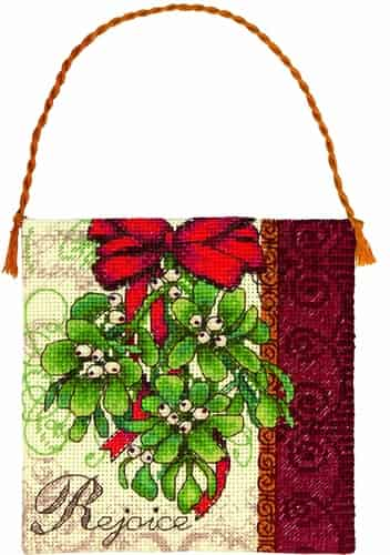 Dimensions Gold Petites Cross Stitch Kit - Christmas Ornament - Mistletoe