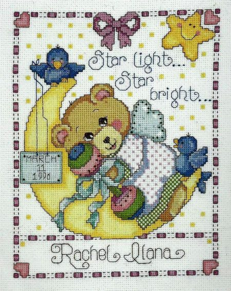 Design Works Cross Stitch Kit - Moon Baby Sampler