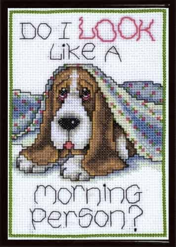Design Works Cross Stitch Kit - Morning Dog