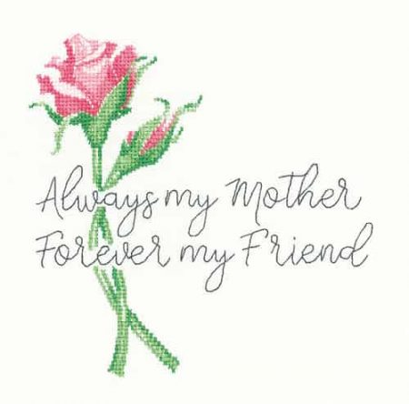 Heritage Crafts Cross Stitch Kit - Always my Mother