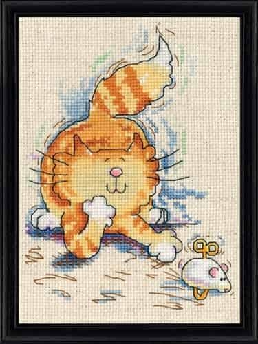 Design Works Cross Stitch Kit - Cat & Mouse