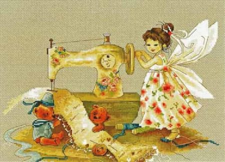Luca S Cross Stitch Kit - Needlework Fairy