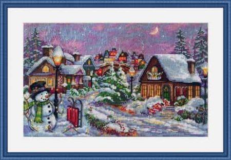 Merejka Cross Stitch Kit - Christmas Night - DMC threads