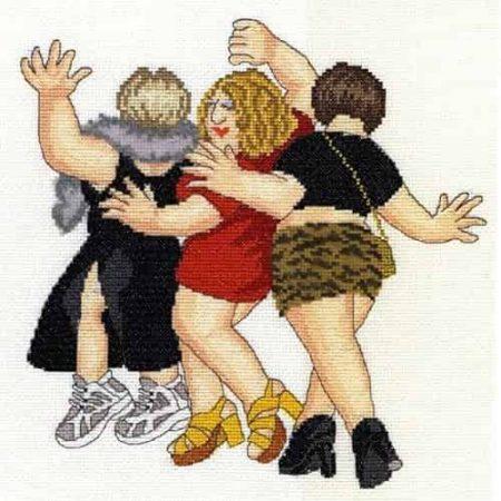 Bothy Threads Cross Stitch Kit - Beryl Cook, Girls Night Out - XBC2